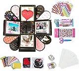 MKISHINE Explosion Box Scrapbook DIY Album de Fotos para cumpleaños Aniversario Boda San Valentín Día de la Madre Navidad (Negro)