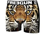 FREEGUN Herren Boxershorts Wild-Faces-Edition, 7 MEGA Designs in 5 Größen (L/50/6, Tiger)