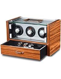 WATCH Winder carga relojes Palisandro relojes para 3relojes automáticos