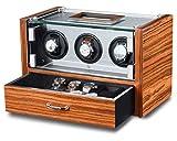 WATCH WINDER Lade Uhren Palisander Uhrenbox 3Automatikuhren