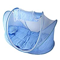 Baby Mosquito Net Tent Portable Folding Crib for Baby with Mattress Pillow Gift for Baby