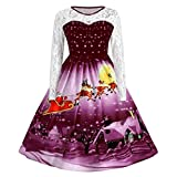 BaZhaHei Damen Weihnachtenkleid Elegant Abendkleid Vintage Party Kleid Mesh Brautkleid Retro Cocktailkleid Minikleid Kleidung Halfter-Sleeveless Abend-Partei-Abschlussball-Schwingenkleid