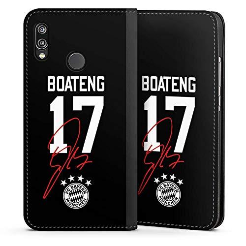 DeinDesign Leder Flip Case kompatibel mit Huawei P20 Lite Tasche Hülle Boateng #17 FC Bayern München Trikot