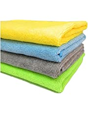 SOBBY Microfibre Cleaning Cloth 40 cm x 40 cm Pack of 4