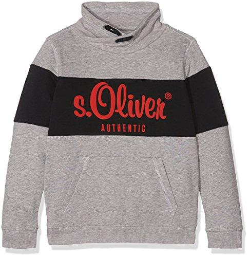 s.Oliver Jungen Sweatshirt 68.709.41.3215, Grau (Grey Melange 9400), 116 (Herstellergröße: 116/122)