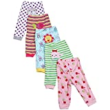 KINDOYO Baby Hose mit Fuß Strampelhose Jungen 100% Baumwolle Lange/kurze Strampelhose Mädchen Schlupfhose im 5er Pack