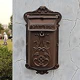 CS Buzón de hierro fundido para el antiguo estilo de imitación bordado hierro artesanía caja colgante estilo