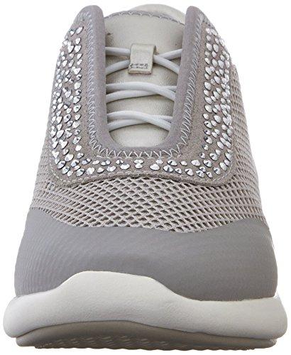 Geox Ophira E, Chaussures De Gymnastique Pour Femmes Grey (lt Grey / Silver C1355)