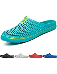 BIGU Unisexe Chaussures Sabots Respirant Chaussures de Jardin D'Été Amants Pantoufles Plage Sandales Hommes Femmes Piscine Sandales Chaussons Noir Blanc Rouge Bleu Turquoise