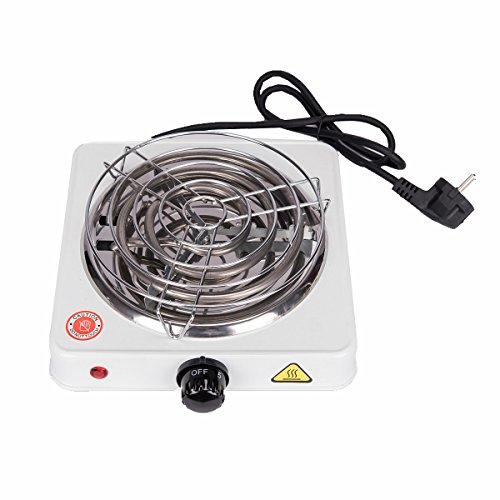 Ectxo Shisha Grill Elektrischer Kohleanzünder Heat Up 1000W Heizplatte Brenner für Shishakohle