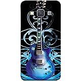 Fuson Designer Back Case Cover For Samsung Galaxy A5 (2015) :: Samsung Galaxy A5 Duos (2015) :: Samsung Galaxy A5 A500F A500Fu A500M A500Y A500Yz A500F1/A500K/A500S A500Fq A500F/Ds A500G/Ds A500H/Ds A500M/Ds A5000 (Graphics Artwork Guitar Shaped Image You