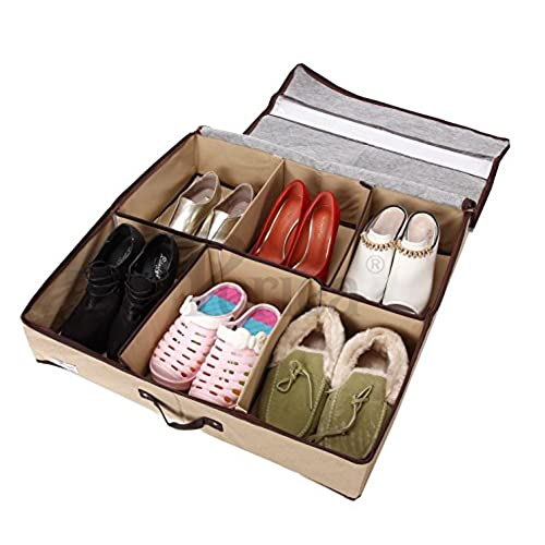 Periea   Sturdy Shoe Storage Box With Hard Base And Sides (Holds 3 12  Pairs) 6 Colours Available