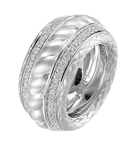 Joop Damen-Ring 925 Silber Zirkonia Rundschliff transparent