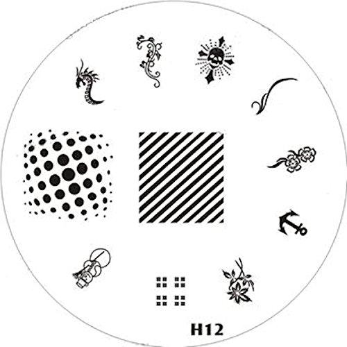 Pochoir de stamping # H de 12