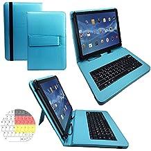 Onda V919Air–Teclado alemán Tablet Funda con función atril–9.7pulgadas turquesa teclado