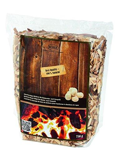 RÖSLE Räucherchips Hickory, 750 g, rauchaktiv, Qualität aus Deutschland