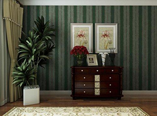Retro American country Wallpaper classic Grün rattan Blumen Schlafzimmer Wohnzimmer Sofa TV Hintergrund Wand Tapete grüne Streifen -
