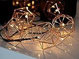 LED-Lichterkette - Edge Line Indoor - 2,25m - 10x Warmweiß - Kupfer-Ornament