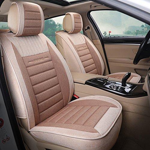YE Sitzbezügesets Autositzbezug hochelastischen Composite-Leinen Kissen Umweltfreundlich (Airbag und Split Bank Kompatibel) (Farbe : Kaffee - Farbe, Größe : Standard Edition)