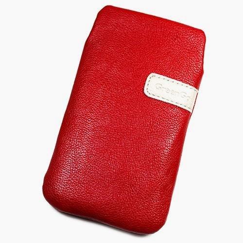 Schutzhülle Tasche Lederoptik rot XXL für ZTE Nubia Z5S Mini NX403A