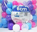 100 Stück Bällebad Bälle 6cm GIRL Set in Kindergarten & Gewerbequalität Babybälle Plastikbälle ohne gefähliche Weichmacher (TÜV zertifiziert = fortlaufende Prüfungen seit 2012)