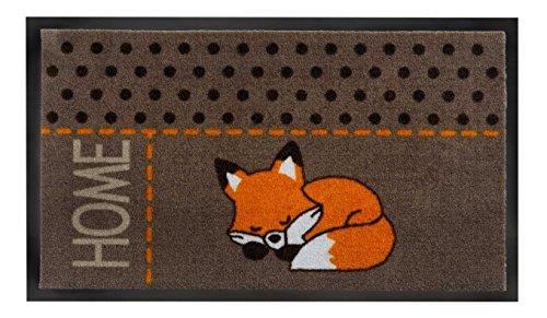 Fußmatte / Fussmatte / Fussabstreifer / Fussabtreter / Sauberlaufmatte / Türfussmatte / Türmatte / Schmutzfangmatte / Matte / Schmutzmatte / Abstreifer / Schuhmatte / Schuhabtreter / Modell Fuchs - Fox - Home - flexibel einsetzbar / Rutschfest / Größe ca. 45 x75 cm / repräsentative Fußmatte für Eingangsbereiche / ideal auch für Ihre Terasse