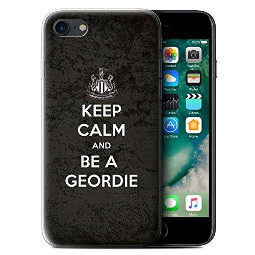 Offiziell Newcastle United FC Hülle / Gel TPU Case für Apple iPhone 7 / Sehen NUFC Muster / NUFC Keep Calm Kollektion Geordie