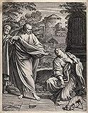Berkin Arts Annibale Carracci Giclee Art Paper Stampa Opere d'Arte Dipinti Poster Riproduzione(La Donna cananea o siro-fenicia chiede a Cristo di Curare) #XZZ