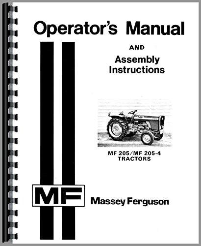 Massey Ferguson MF 205 205-4 Diesel Compact Operators Manual Mh Compact