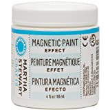 Martha Stewart Crafts Magnetic Paint, 4 oz, color gris