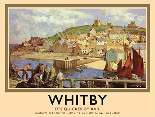 whitby-harbour-british-railways-yorkshire-trains-rail-medium-metal-steel-wall-sign