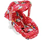 Ehomekart Kid's Red Carry Cot Cum Bouncer - 6 In 1 (Print May Vary)