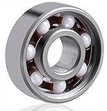 Lucklystar® Bearings 608 Hybrid Ceramic Mittellager Kugellager für Spielzeug, Skateboard, Roller, Inline Skates1PCS