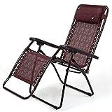 Stühle FEIFEI Lounge Chair Klappstuhl Mittagspause Chair Office Break Chair Freizeitstuhl Sun Chair Beach Chair Atmungsaktive Sonnenliegen, Gartenstühle, Schwerkraft (Farbe : 02)