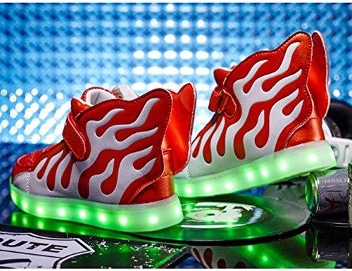 Aidonger , Chaussures spécial sports d'extérieur pour garçon multicolore rouge/blanc rouge/blanc