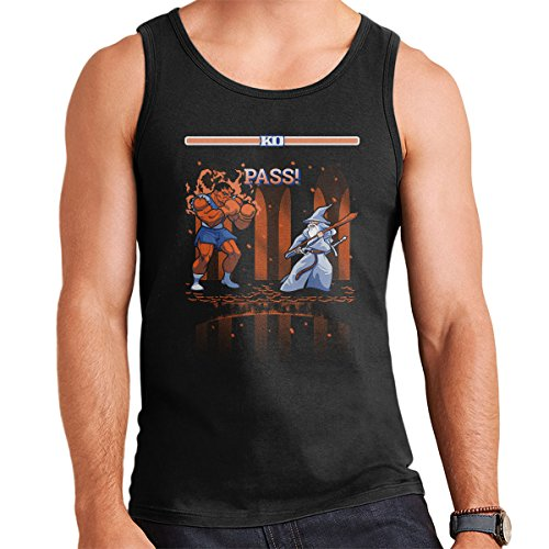 Lord Of The Rings Street Fighter Balrog Vs Gandalf Men's Vest Black