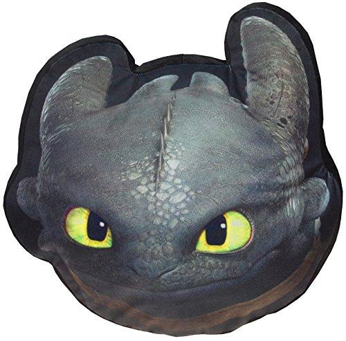 Dragons Kissen Ohnezahn Toothless Kopf 40cm (Label Kissen Bett Kissen)