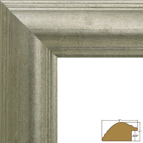 craig-frames-88068-20-by-30-inch-picture-frame-smooth-distressed-finish-2-inch-wide-antique-silver-b