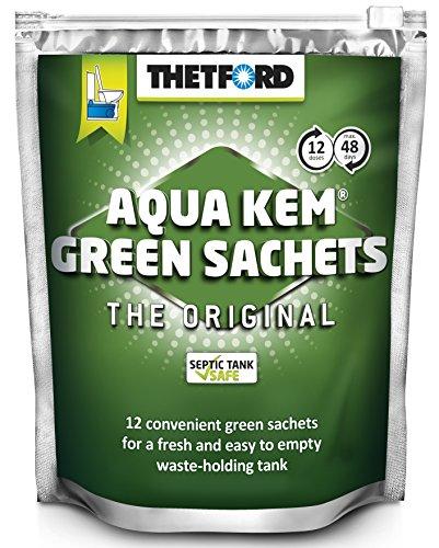 WC-Beutel von New Thetford KEM, 12 grüne Beutel, 42,5g, chemische WC-Beutel Caravan