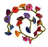 Filz Blumen-girlande - Mehrfarbig (ca. 160 cm lang)
