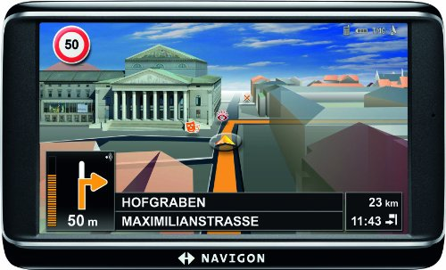 NAVIGON 70 Premium Navigationssystem (12,7cm (5 Zoll) Display, Europa 43, TMC Pro, Bluetooth,  Annäherunssensor, City View 3D 2.0, Sprachsteuerung)