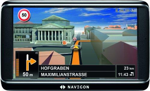 NAVIGON 70 Premium Navigationssystem (12,7cm (5 Zoll) Display, Europa 43, TMC Pro, Bluetooth,  Annäherunssensor, City View 3D 2.0, Sprachsteuerung)