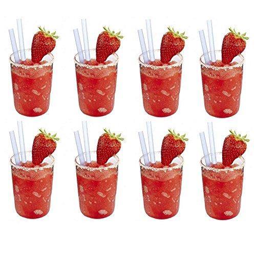 8 x kleines, bruchfestes Glas ca. 200 ml, Softdrinkglas, Saftglas, Probierglas, Wassergläser Set aus hochwertigem Kunststoff (Polycarbonat), edle Gläser für Camping, Partys (wie echtes Glas)