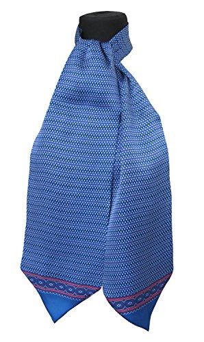 Ascot-schal (Ascot Krawatte100% Seide Made in Italy Tessago 6917 Azul claro)