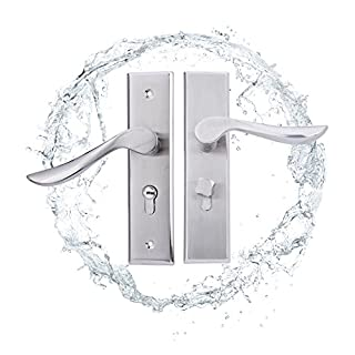 Set of Stainless Steel Door Handle Lever Lock Latch Door Lock and Keys Set Polished Scroll For Home ofcina Restaurant Hotel