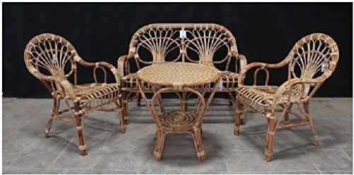 Okaffarefattomaddaloni completo divano + 2 poltrone + tavolino in bambu big sole set naturale lusso