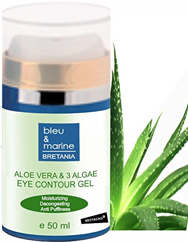 Gel Contorno Occhi Idratante Aloe Vera 50 ml ● Gel occhi Correttore Aloe Vera & Alghe ● Gel Decongestionante Antirughe