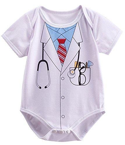 Mombebe Baby Jungen Arzt Kostüm Neugeboren Halloween Bodys (Doctor, 0-3 Monate)