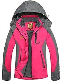 7ef2d5c1f870 Bornbayb Femmes Capuche Coupe-Vent et imperméable Veste extérieure Femmes  Respirant Alpinisme Veste idéal pour