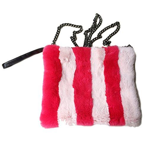 Ysting Rex Kaninchen Pelz Muff Crossbody Geldbörse Handtasche (Cape Nylon Reversible)